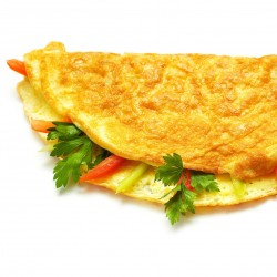 omelette au Fromage, suggestion de présentation