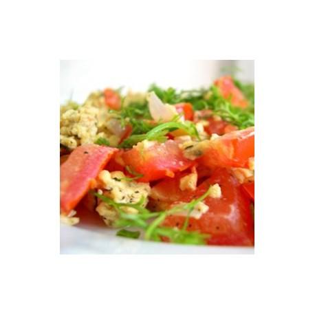 omelette Méditerranéenne, suggestion de présentation