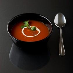 potage Tomate, avec un nuage de crème à 0%
