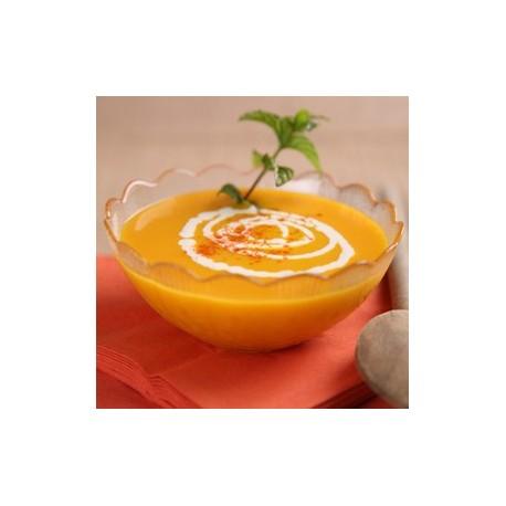 potage Poulet Curry suggestion de présentation