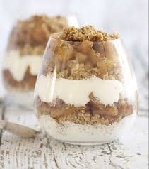 Verrine gruau pomme cannelle